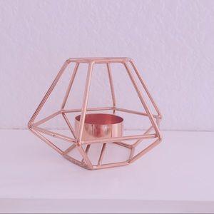 Metal tea candle holder